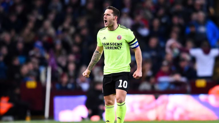 Billy Sharp netted his 100th goal for Sheffield United in the 3-3 draw at Villa Park