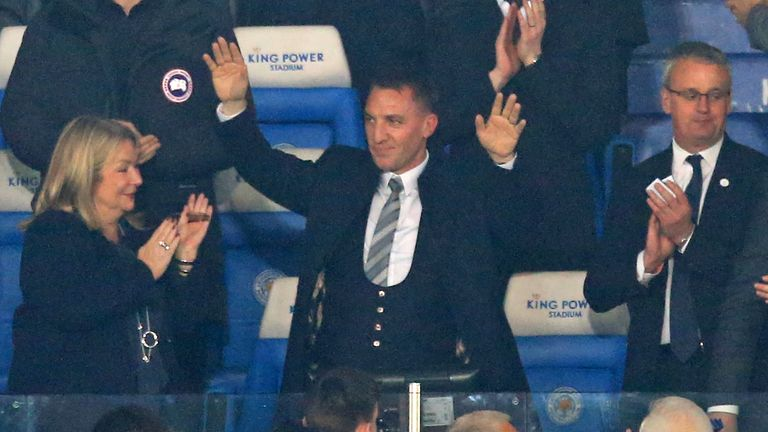 Brendan Rodgers was in the stands for Leicester's win over Brighton on Tuesday - their first since New Year's Day