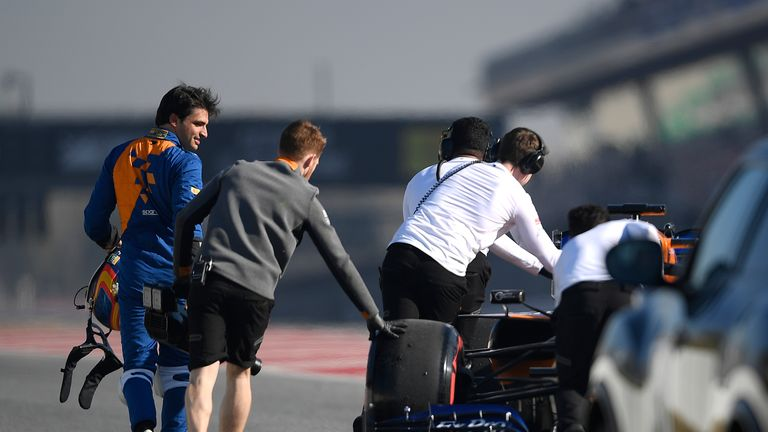 McLaren's pacesetting day wasn't without it's setbacks, with Sainz stopping at the end of the pit lane with a water pressure issue