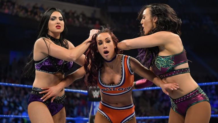 Carmella - and her Fabulous Glow team-mate Naomi - were the victims of a post-match attack by the IIconics