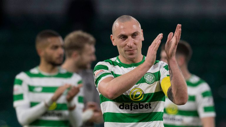 Scott Brown will lead Celtic in their Europa League clash with Valencia