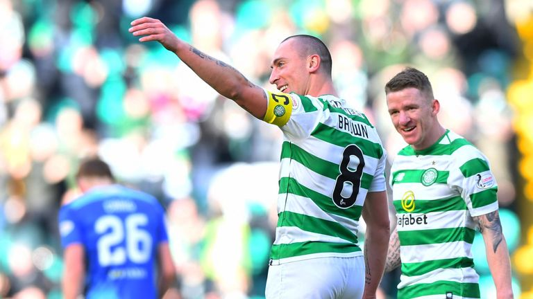 Captain Scott Brown was also among the goals against St Johnstone