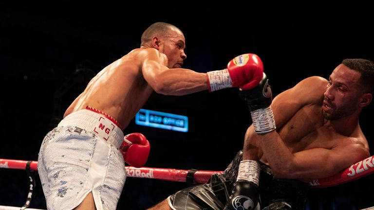 Eubank Jr floored DeGale again in the 10th round