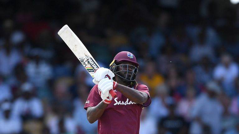 Gayle scored 12 sixes - and had those inside Kensington Oval gripped