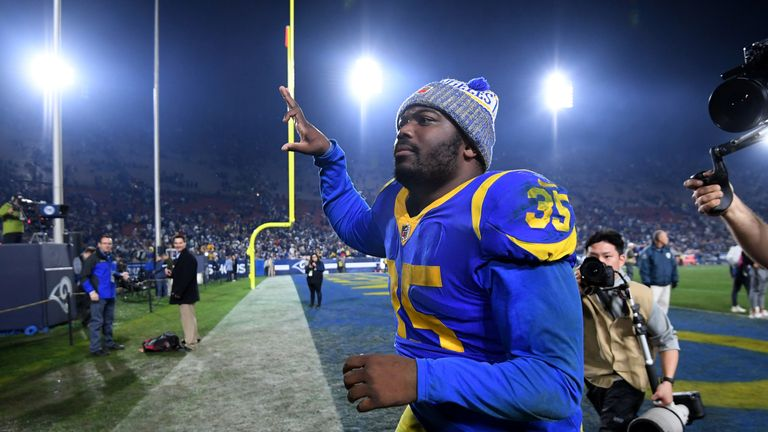 C.J. Anderson played a prominent role for the Rams in the playoffs