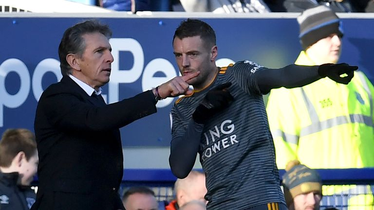 Claude Puel and Jamie Vardy's relationship has come under scrutiny