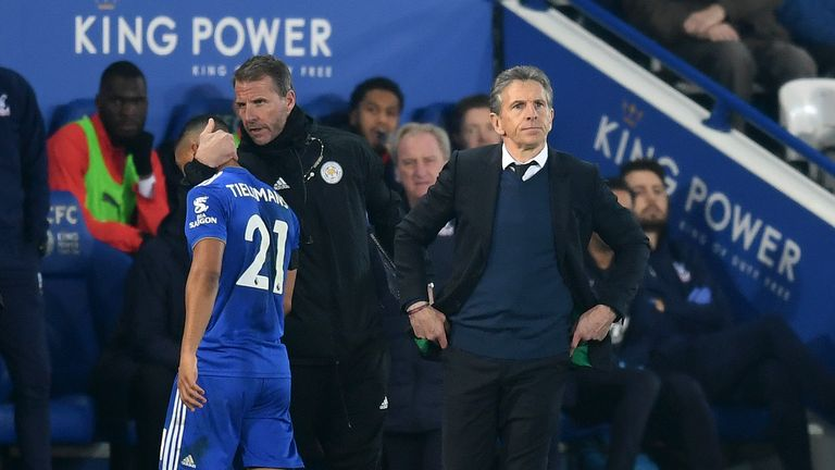 Claude Puel has been under pressure in recent weeks as Leicester's poor results have continued
