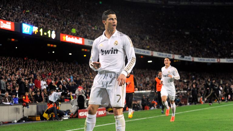Cristiano Ronaldo scored the winner at the Nou Camp in 2012