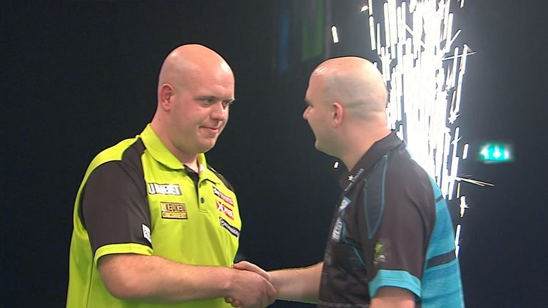 The pressure is on world No 1 Michael van Gerwen as he bids to overtake Rob Cross with victory in Cardiff