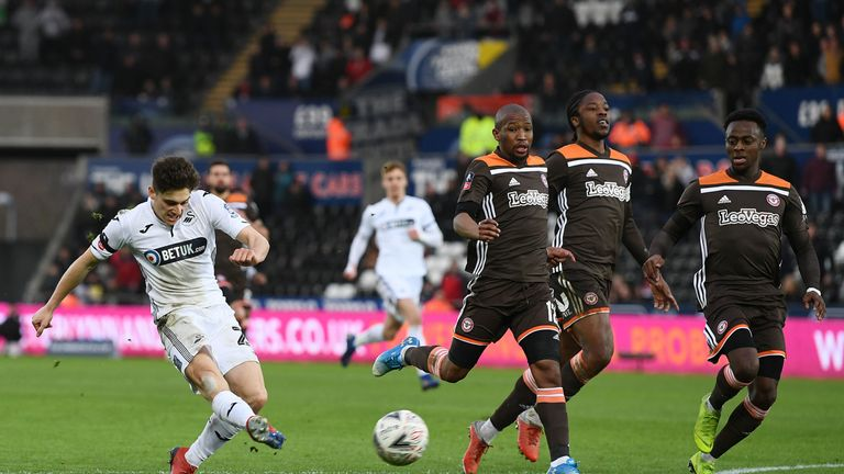 Swansea City 4 Brentford 1: James-inspired turnaround books quarter-final berth