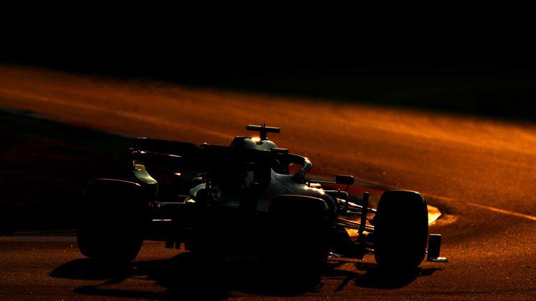 Daniil Kvyat drives off into the sunset...