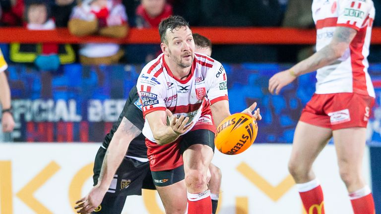 Hull KR's Danny McGuire will be in action against Warrington Wolves