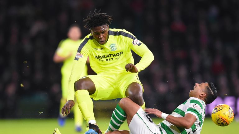 Darnell Johnson has been banned for a foul on Celtic's Emilio Izaguirre