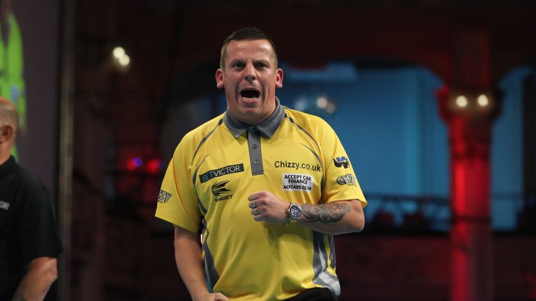 Dave Chisnall has been playing plenty of darts in his shed