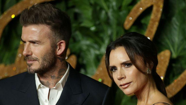 David Beckham with wife Victoria