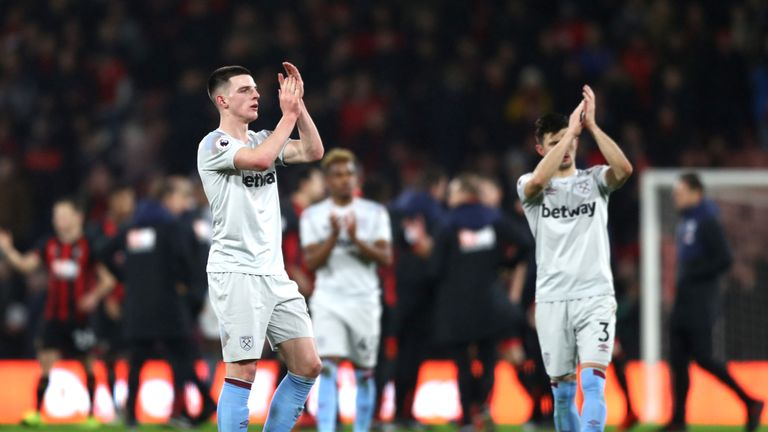 Declan Rice has been in good recent form for West Ham