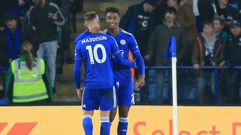 Demarai Gray opened the scoring for Leicester