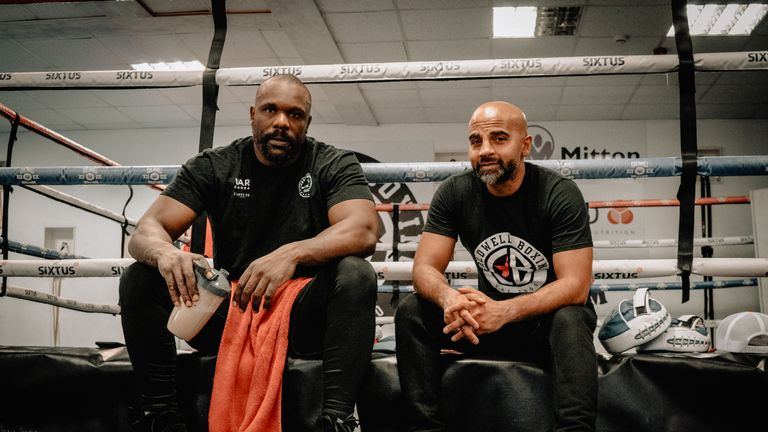 Derek Chisora has begun training with Dave Coldwell at his base in Rotherham