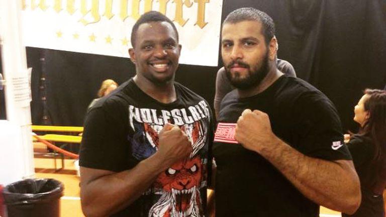 Kash Ali has been a regular sparring partner for Dillian Whyte [pic courtesy of Kash Ali's official Instagram]