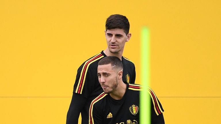Thibaut Courtois and Eden Hazard are both key players for Belgium