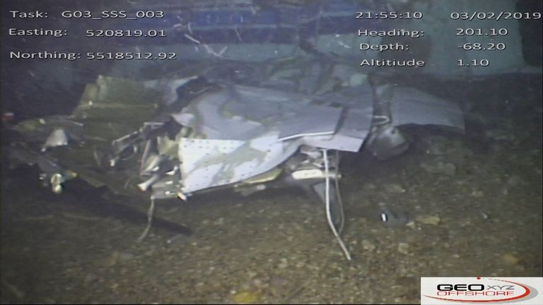 Footage of the plane's wreckage was released by the AAIB