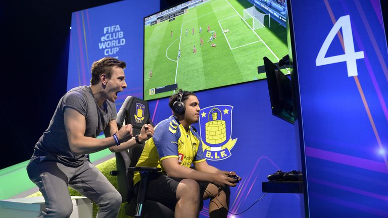 Fatih Fifaustun (R) inspired Brondby to the FIFA eClub World Cup title last year