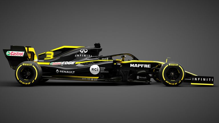 Renault F1 team reveals its car, has big hopes for improved engine