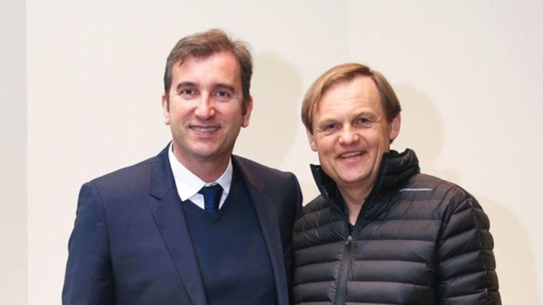 Man City's CEO Ferran Soriano and Bjorn Gulden