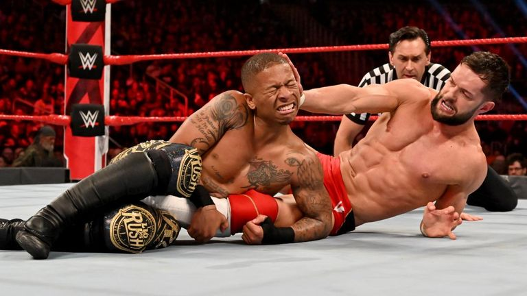 Finn Balor overcame a knee injury to retain his Intercontinental title against Lio Rush