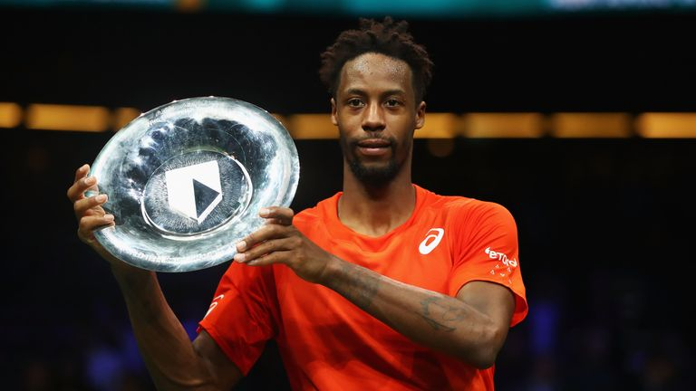 Gael Monfils defeated Stan Wawrinka to win the Rotterdam Open