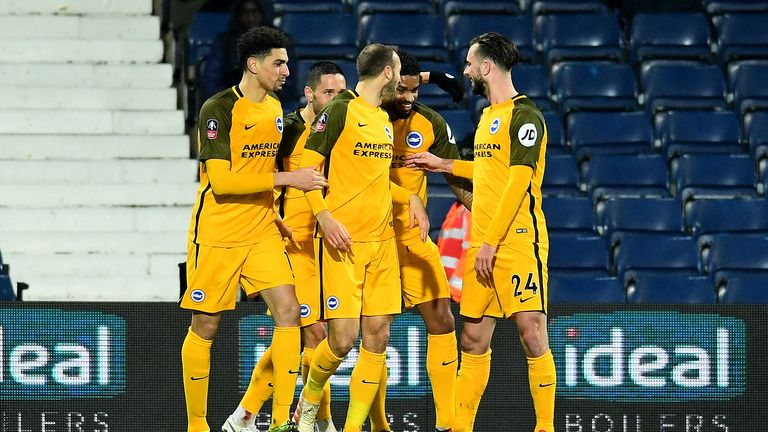 Brighton reached the fifth round of the FA Cup, where they will face Derby