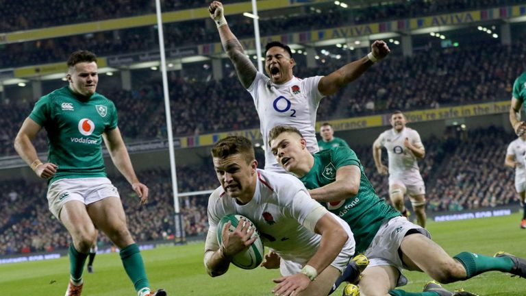Henry Slade's first score proved the point at which England would not lose