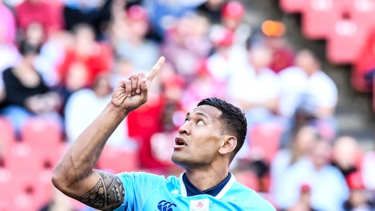 Israel Folau has scored 60 tries in 96 Super Rugby appearances for the Waratahs