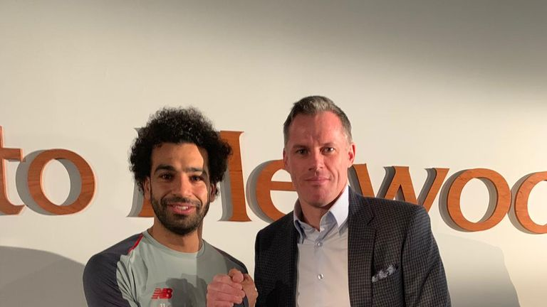 Jamie Carragher headed to Melwood for an exclusive interview with Mo Salah, ahead of Liverpool's Sky Live showdown with Manchester United