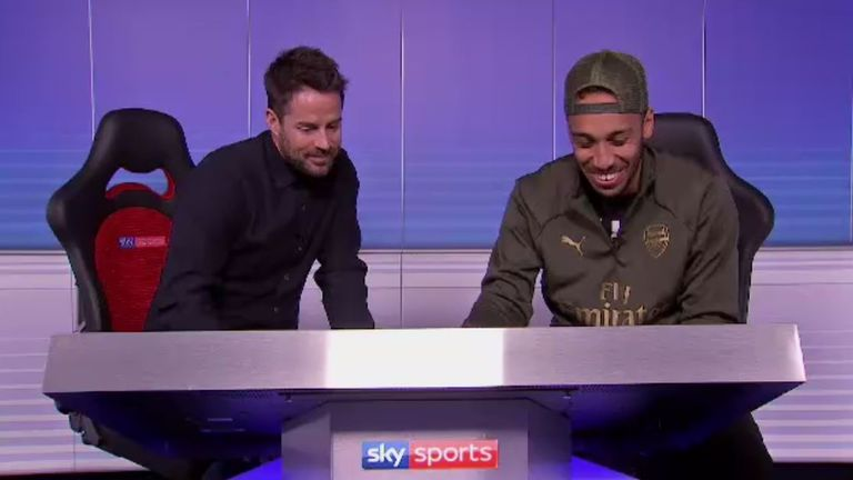 Aubameyang sat down with Jamie Redknapp in the latest Renault Match Zone