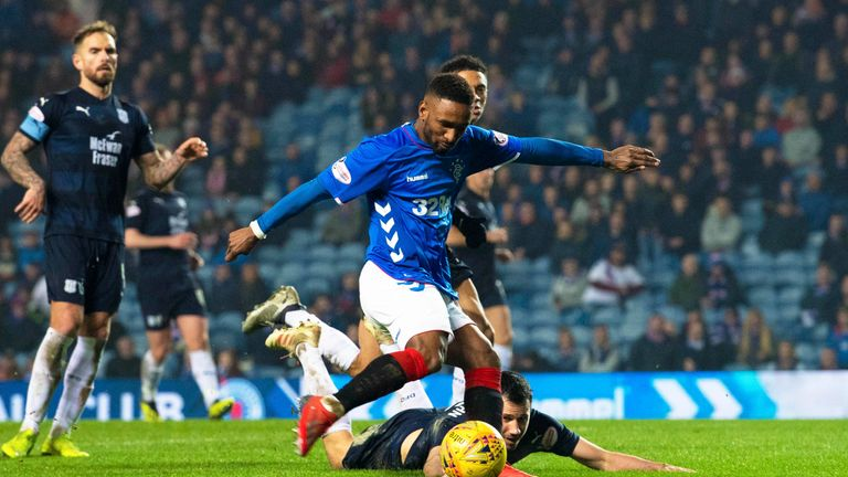 Defoe strikes to make it 4-0 to Rangers