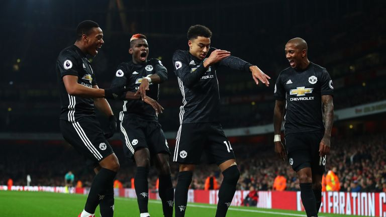 "Lingard performed his ""Milly Rock"" move at The Emirates last year"