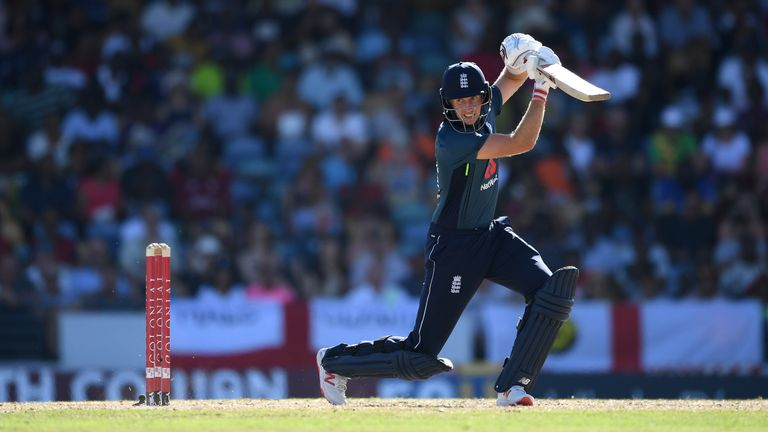 Joe Root scored a century in the opening match of England's ODI series against Windies