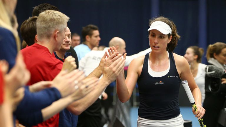British No 1 Konta was playing her 20th Fed Cup tie