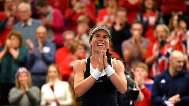 Great Britain will travel to face Slovakia in the qualifiers for the 2020 Fed Cup Finals