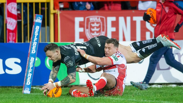 Matty Dawson-Jones scored a try for Hull FC against rivals Hull KR but is now out for the season