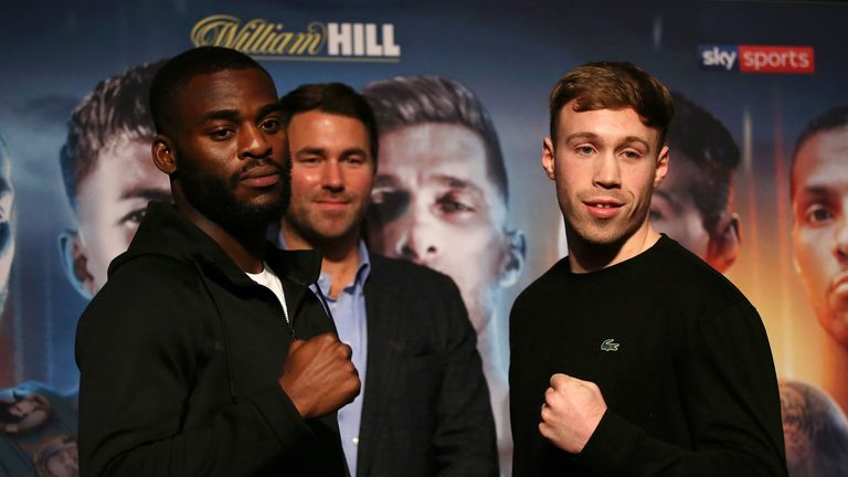 Joshua Buatsi clashes with Liam Conroy for the vacant British belt