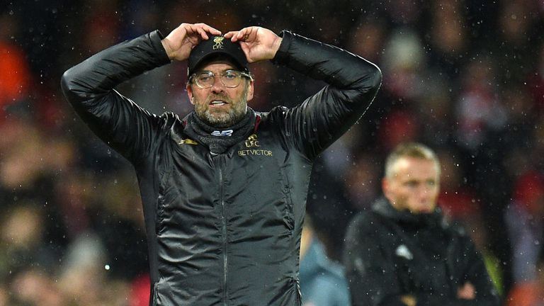 Jurgen Klopp admits pressure is now present for Liverpool