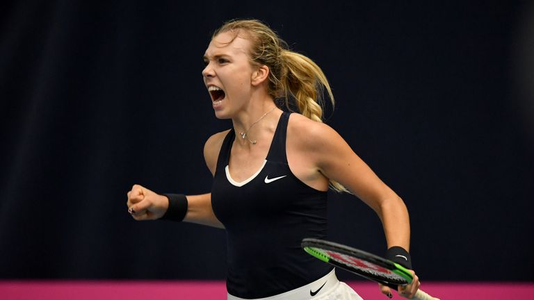 Katie Boulter delivered another opening win as she battled hard to triumph