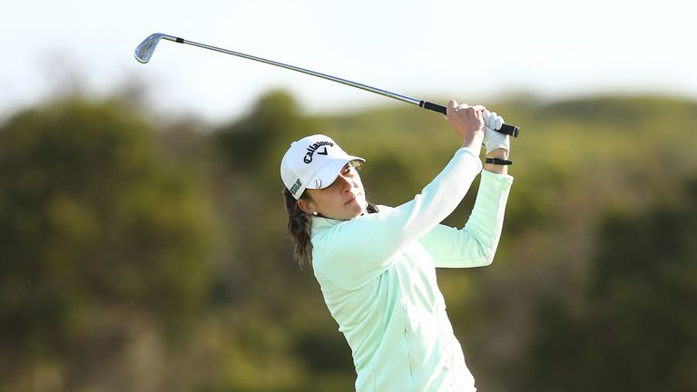 Kim Kaufman carded a 75 but will lead by two shots ahead of the final round