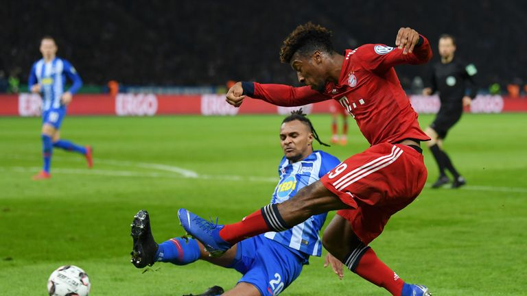 Kingsley Coman was the matchwinner for Bayern Munich against Augsburg on Friday