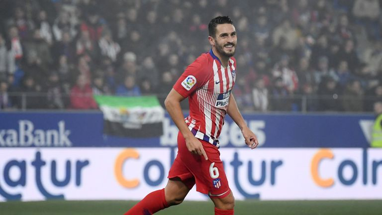 Koke is expected to start for Atletico against Juventus