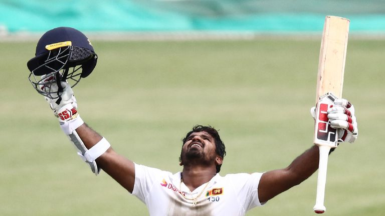 Kusal Perera, Sri Lanka, Test century vs South Africa