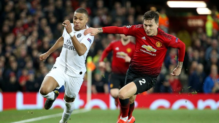 Kylian Mbappe had the United defence on the run all night last Tuesday