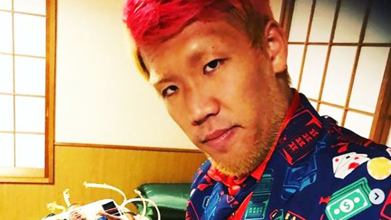 The 32-year-old regularly dyes his beard and hair (Pic courtesy of Kyotaro Fujimoto's official Instagram)